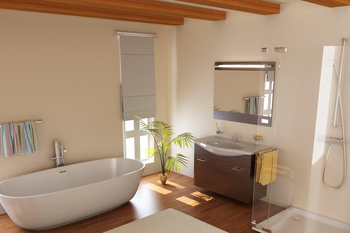 Hout in de badkamer waarop letten en geschikte houtsoorten - Badkamer exotisch hout ...
