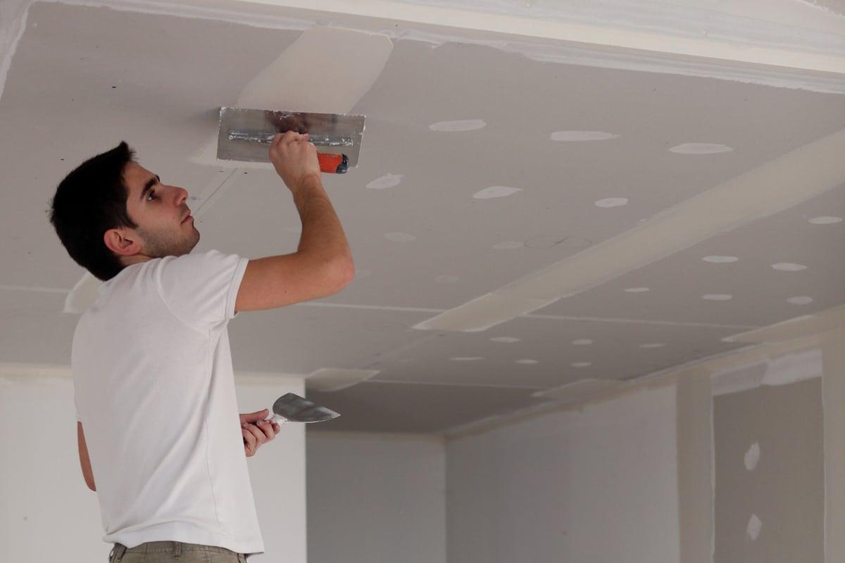 plafond renoveren-gyproc plafond